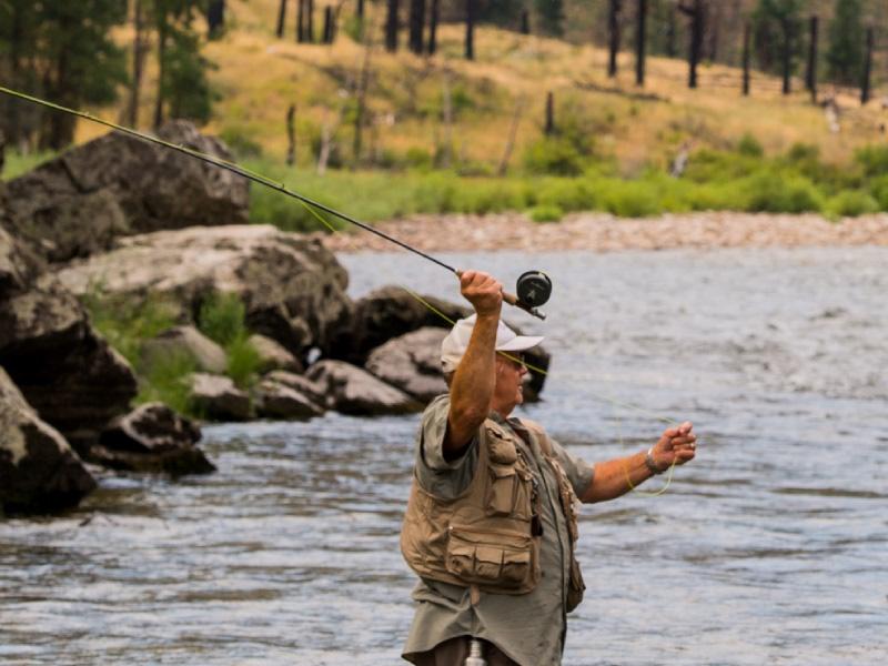 Fly fishing lodge steelhead cutthroat rainbow trout salmon for Idaho fly fishing lodges