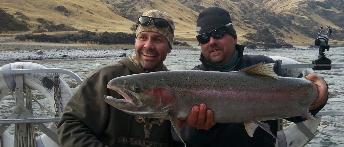 Idaho Steelhead jet boat fishing trip