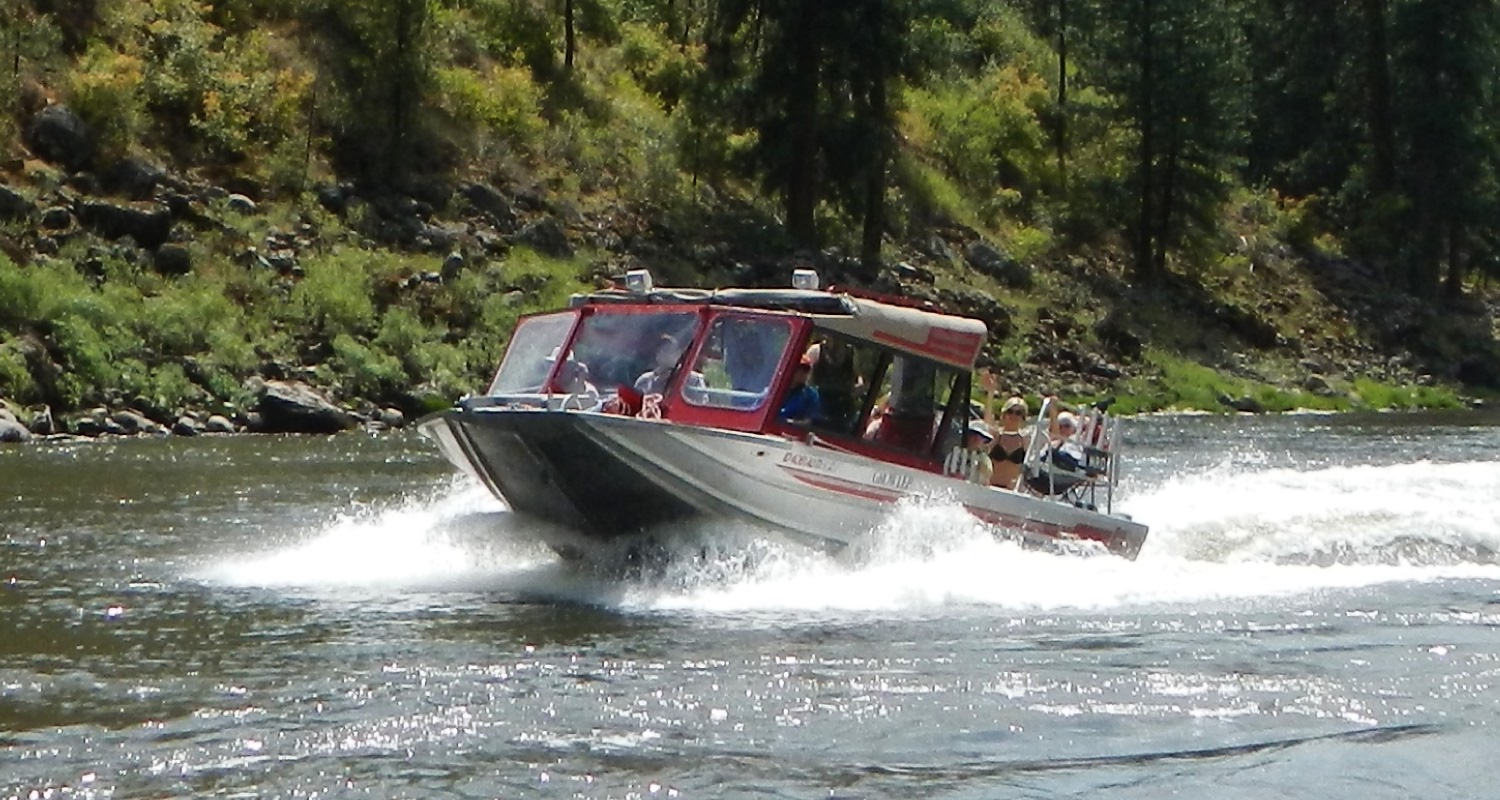 Jet boat tours fishing trips idaho wilderness lodges for Fishing jet boat